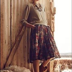 Flynn and Rose for Anthropologie Abstracted Skirt